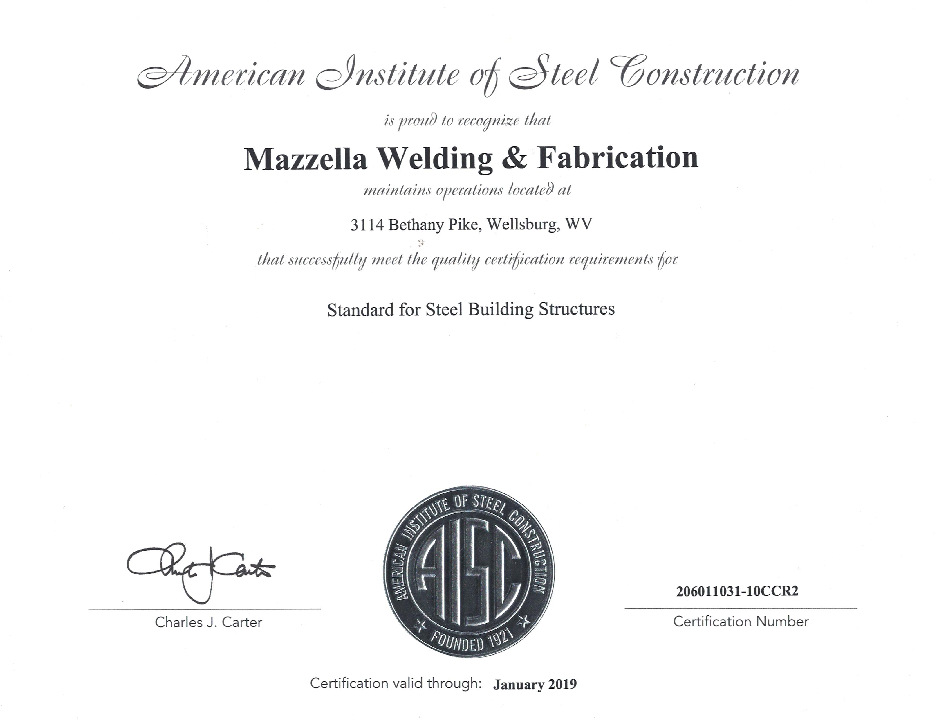 Mazzella Welding Fabrication Inc